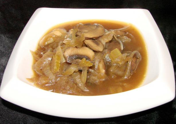 Roasted Onion & Mushroom Soup