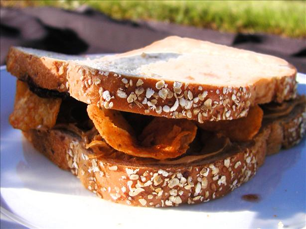 Peanut Butter, Jelly, and Chip Sandwich