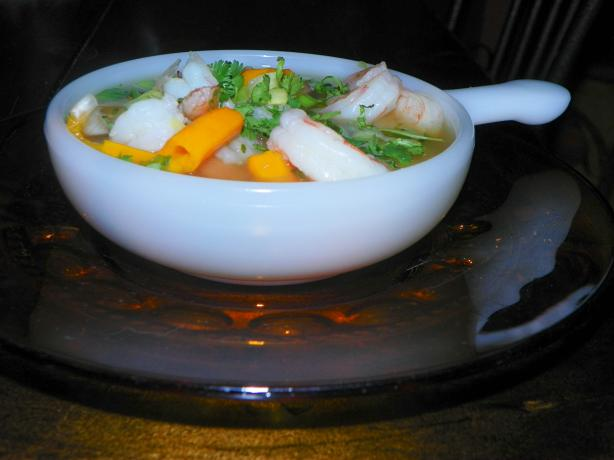 Shrimp in a Spicy Ginger-Cilantro Broth - Clean Eating