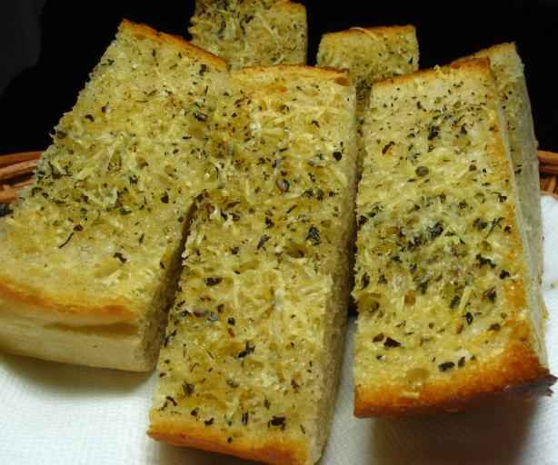 "Olive Oil and Parmesan Garlic Bread ""low Fat"""