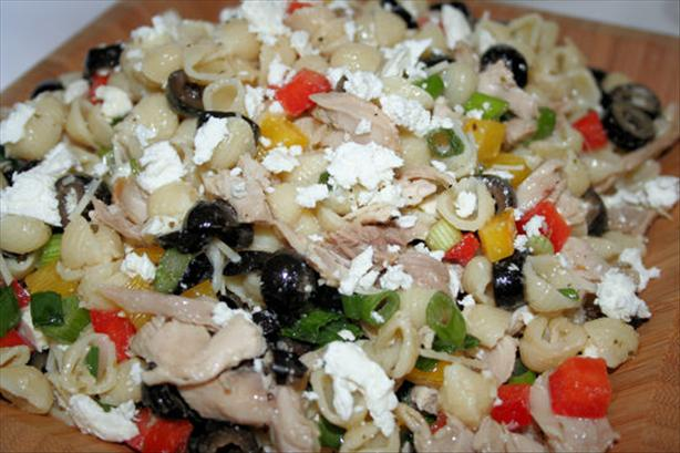 Greek-Style Chicken Pasta Salad