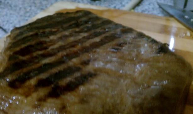 Fresh Parsley & Soy Sauce Marinated Flank Steak