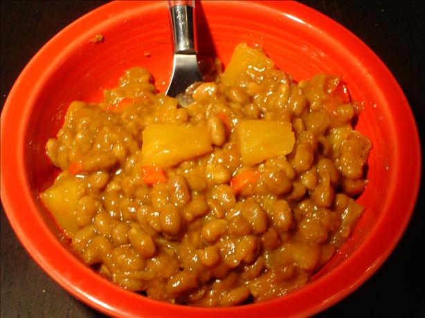 Baked Beans Sweet and Spicy With Pineapple