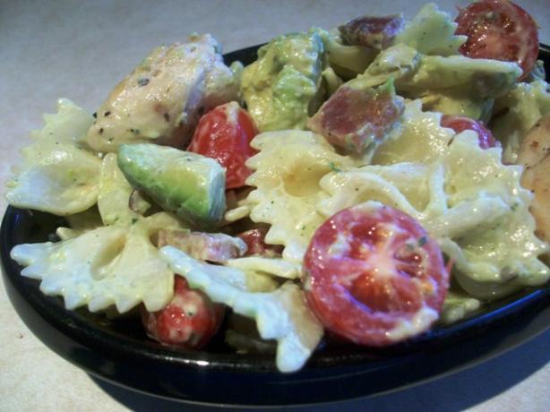 Ranch and Avocado Pasta Salad
