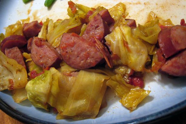 Stove Top Smoked Kielbasa and Cabbage