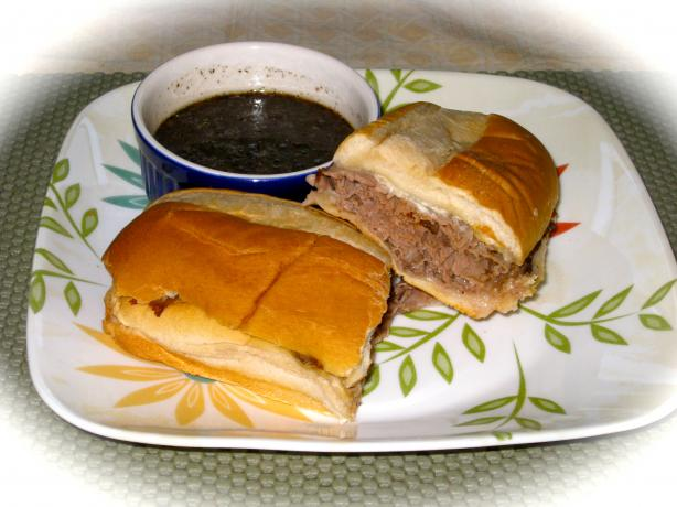 Roast Beef Dip Sandwich With Herbed Garlic Au Jus