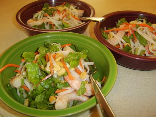 Thai Shrimp-And-Pasta Salad