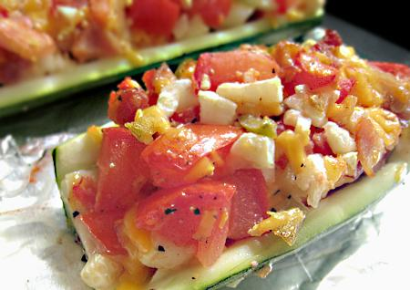 Zucchini with Bacon & Cheese