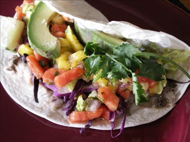 Jamaican-Me-Nuts! Mahi-Mahi Tacos With Tropical Fruit Salsa