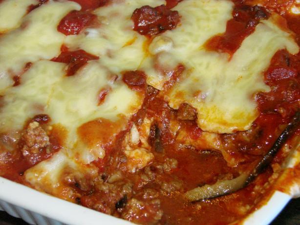 Eggplant Parmigiana and Italian Meats Casserole