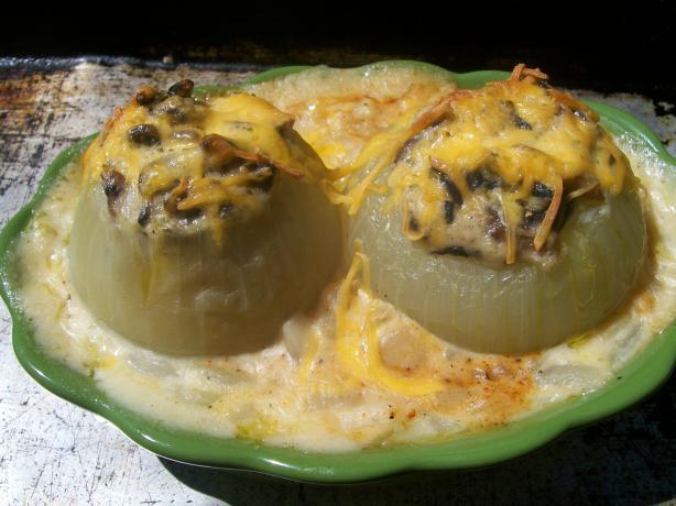 Mushroom Stuffed Onions--Midwest