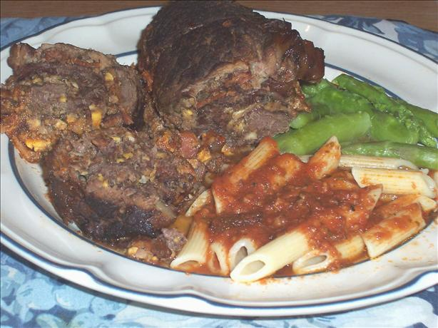 Braciola (Braciole) With Tomato and Wine Sauce