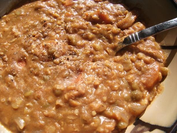 Thai Twist Slow Cooker Vegetarian Split Pea Soup