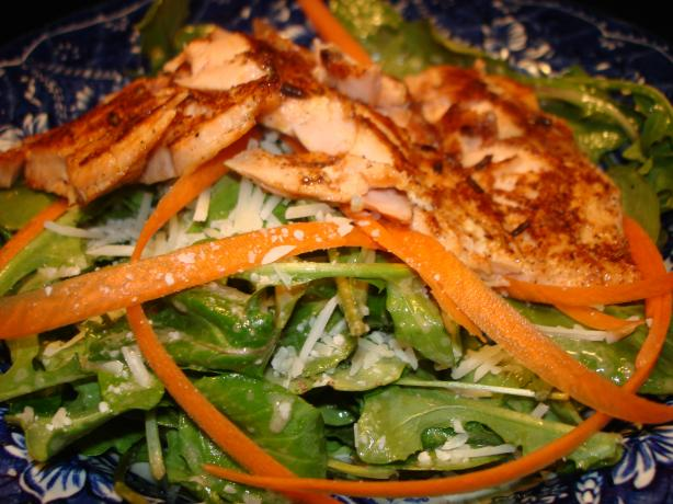 Salmon and Arugula Salad With Dijon Vinaigrette