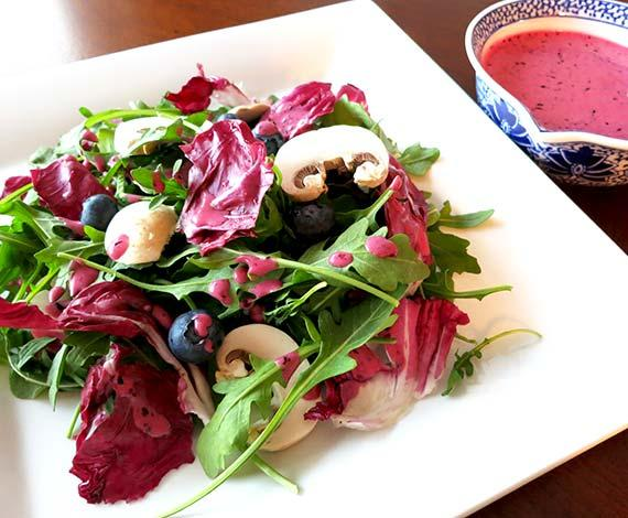Arugula Salad With Blueberry Dressing