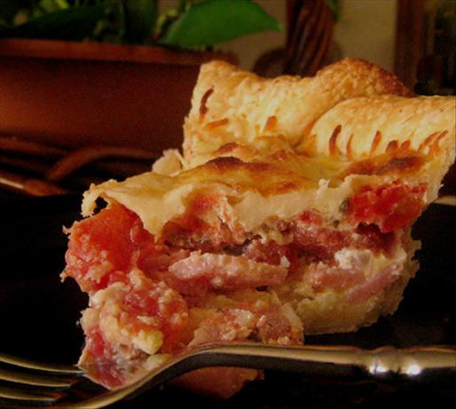 Ham and Tomato Pie