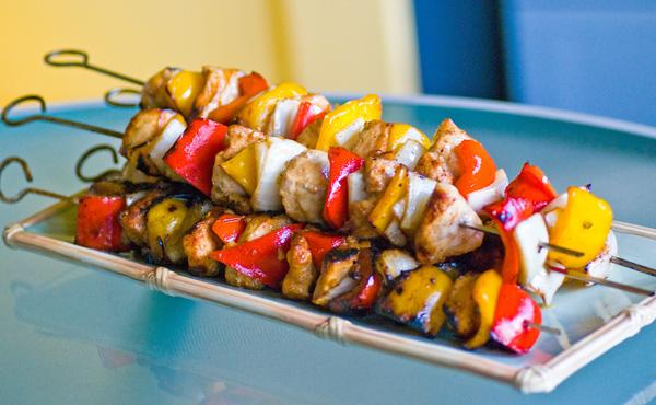 Middle Eastern Chicken Kebabs in Honey-Soy Marinade
