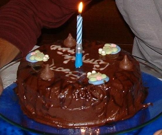 Double Layer Chocolate Cake With Mocha Icing
