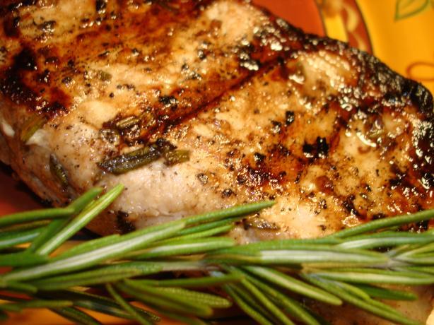 Grilled Rosemary Garlic Pork Chops