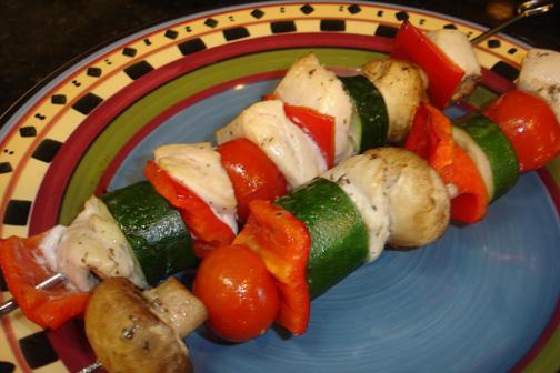 Herb Chicken Vegetable Kabobs