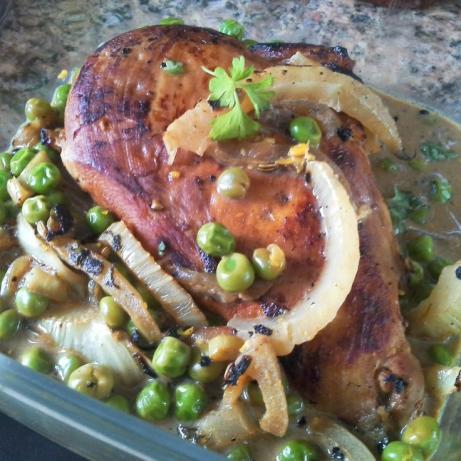 Jewish-Italian Chicken & Peas