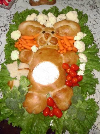 Bunny Bread W/Dip in Tummy!