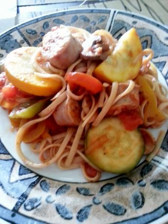 Low-Fat Italian Sausage Dinner