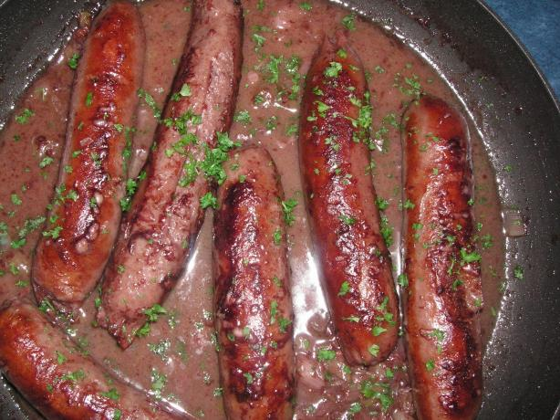 Sausages Braised in White Wine