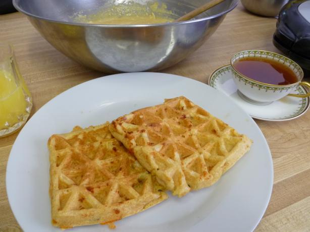 Jalapeno Cornbread Waffles