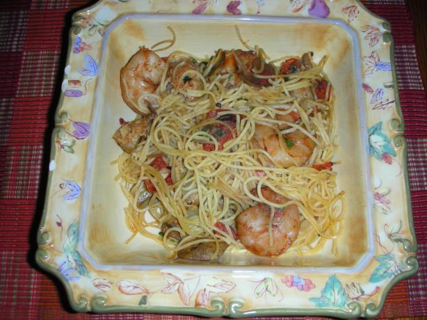 Capellini Al Gamberetti (Angel Hair Pasta With Shrimp)