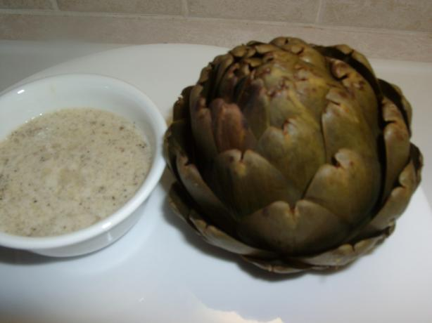 Steamed Artichokes With Garlicky Dipping Sauce