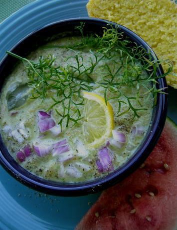 Mexican Cold Cucumber Cilantro soup