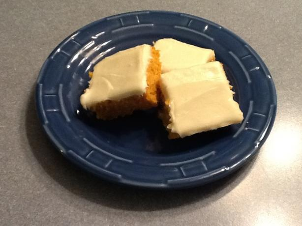 Colonial Pumpkin Bars With Cream Cheese Frosting