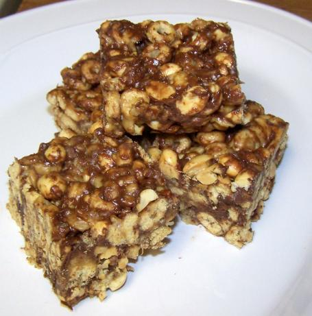 Peanut Butter Snack Bars (No Bake)