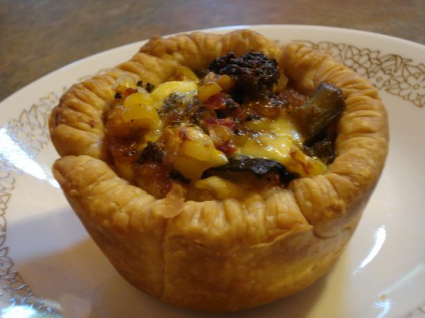 Roast Vegetable and Feta Tarts