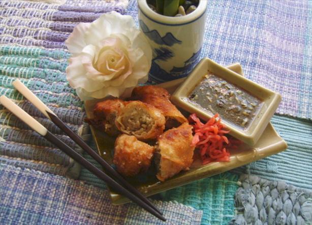 Asian Pork and Shrimp Spring Rolls