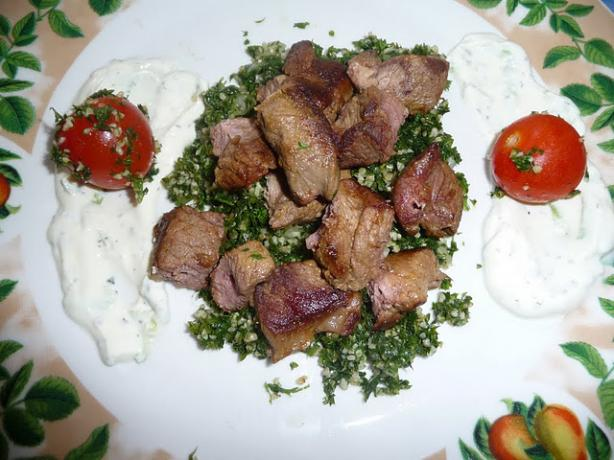 Spicy Lamb Kabobs With Turkish Cacik