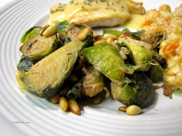 Brussels Sprouts with Pine Nuts