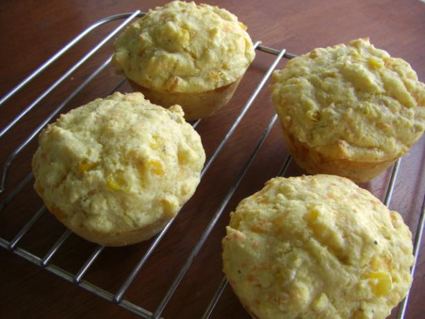 Double Corn and Green Chile Muffins
