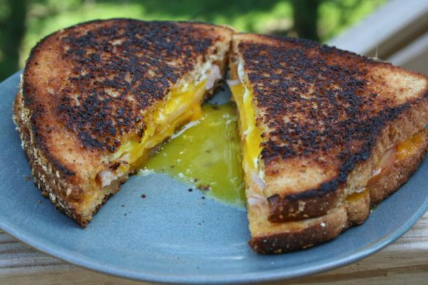 Fried Egg and Cheese Sandwich