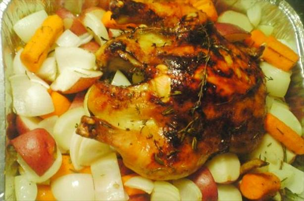 Honey, Vanilla, and Thyme Roasted Chicken