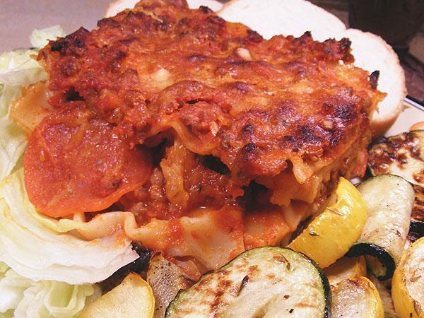 Bird's Pizza Style Lasagna