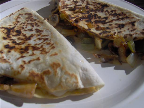 Creamy Mushroom , Pepper & Cheese Quesadillas