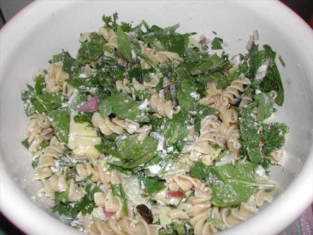 Rachael Ray's Spinach Artichoke Pasta Salad