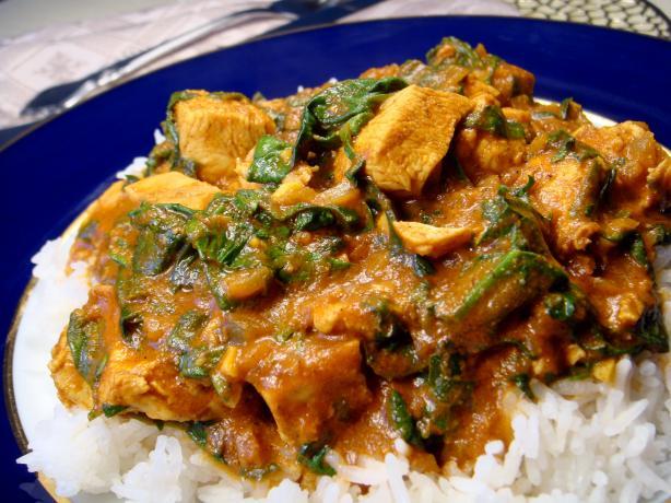 Indian Spiced Chicken & Spinach