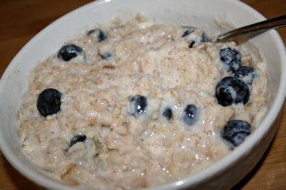Blueberries & Cream Porridge