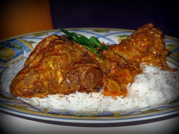 Indian-Style Lamb Shanks With Dried Apricots