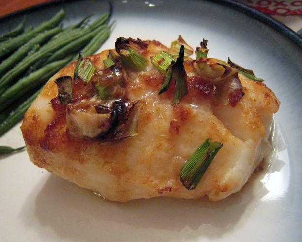 Quick Oven Roasted Ginger Scallion Lime Sea Bass