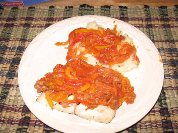 Sea Bass With Sicilian Pepper Sauce