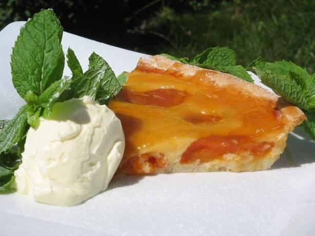 Tarte Aux Abricots - Glazed French Apricot Tart With Almonds